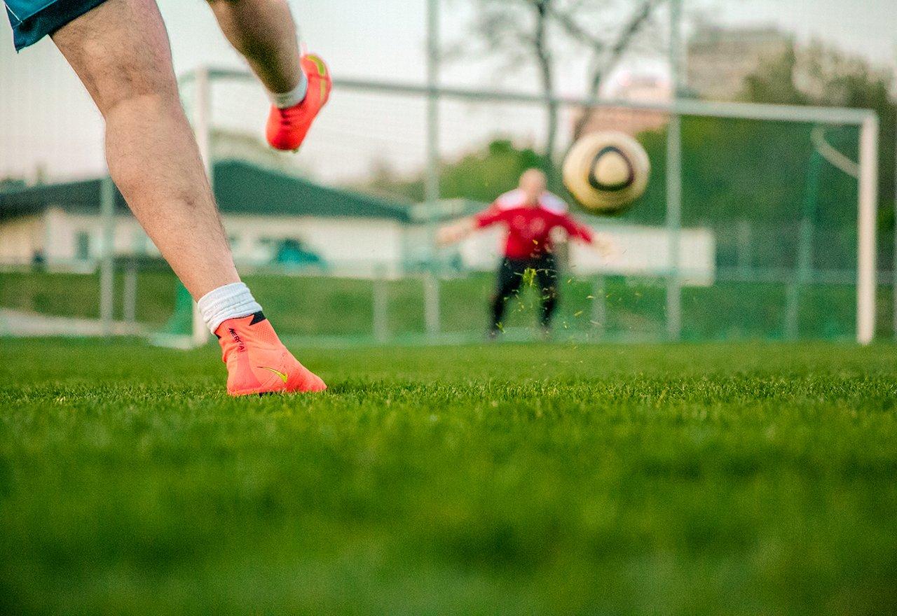 Field Soccer Kicking Ball