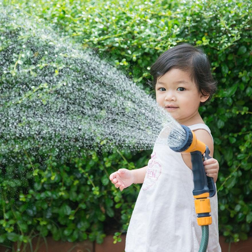 Girl Sprinkler Square