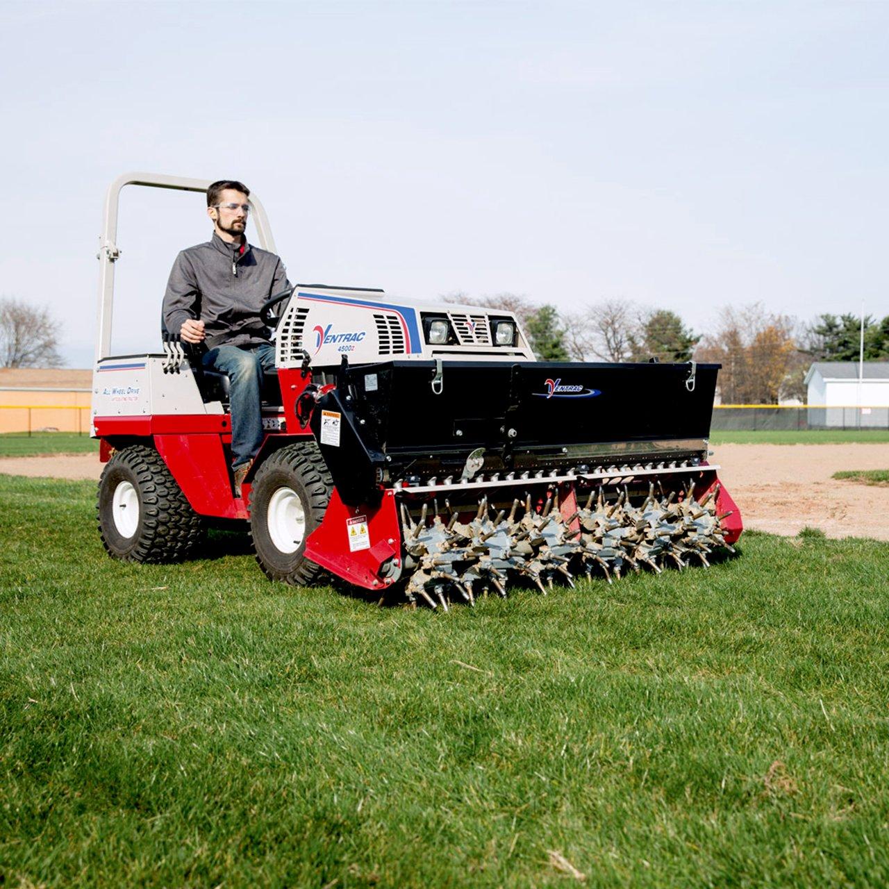 Technician Aeration Ventrac Baseball Field Square