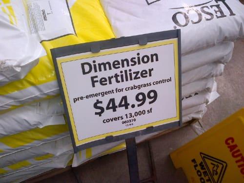 dimension fertilizer